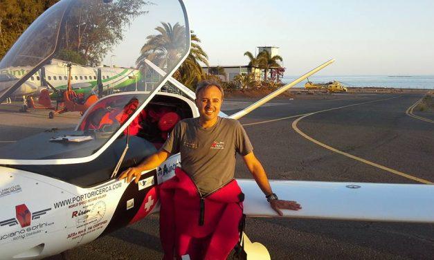 Traversata atlantica del Risen: Alberto Porto atterrato all'aeroporto di Natal a velocità record